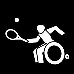 Icon Rollstuhl-Tennis