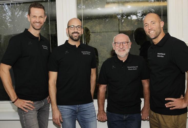 Das Team SPORTPSYCHOLOGIE am Olympiastützpunkt NRW/Rhein-Ruhr (von links): Dr. Christian Zepp, Moritz Anderten, Dr. rer. nat. Ulrich Kuhl, Dr. Sebastian Altfeld.