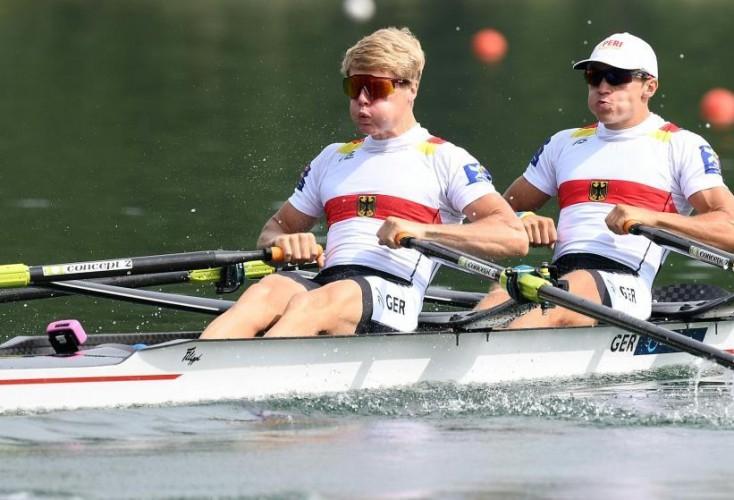 Jonathan Rommelmann (rechts) und Jason Osborne gehen ans Limit (Bild: picture alliance)