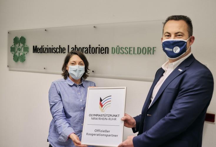 Freuen sich auf die Kooperation: Dr. med. Ileana Herzum (Geschäftsführung Medizinische Laboratorien Düsseldorf) und Volker Lauer (Leiter OSP NRW/Rhein-Ruhr).