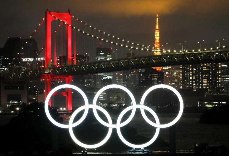 TOKYO Olympische Spiele 2021 Olympische Ringe Olympia in Odaiba-Tokyo am 18.Juni 2020 in Tokyo- Odaiba