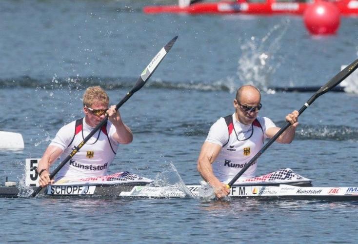 Volle Kraft voraus: Max Hoff (vorne) und Jacob Schopf (Bild: Picture Alliance)