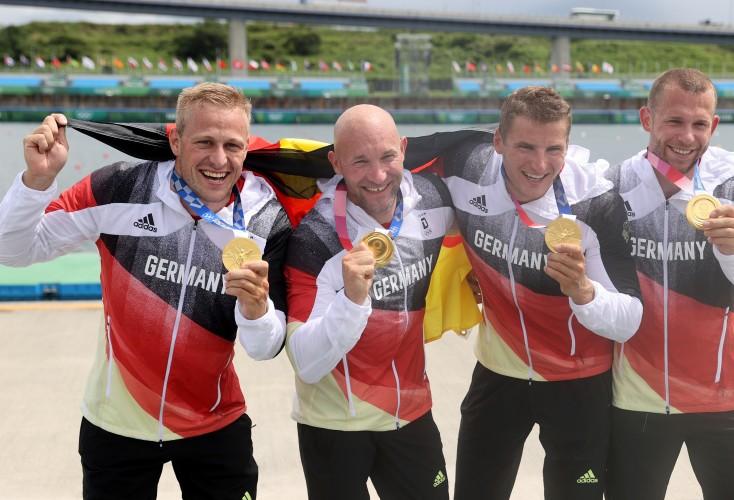 Kanu-Rennsport: Gold für den Kajak-Vierer mit OSP-Athlet Max Rendschmidt (Bild: Picture Alliance)
